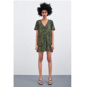 Zara Textured Weave Dress Floral